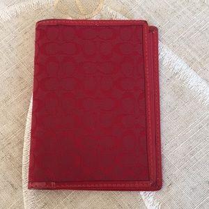 Coach passport holder